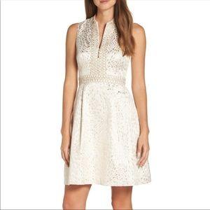 Lilly Pulitzer Franci Dress Gold Metallic size 0